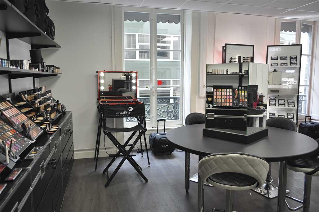 Espace ateliers dans la boutique Peyrefitte Make-up