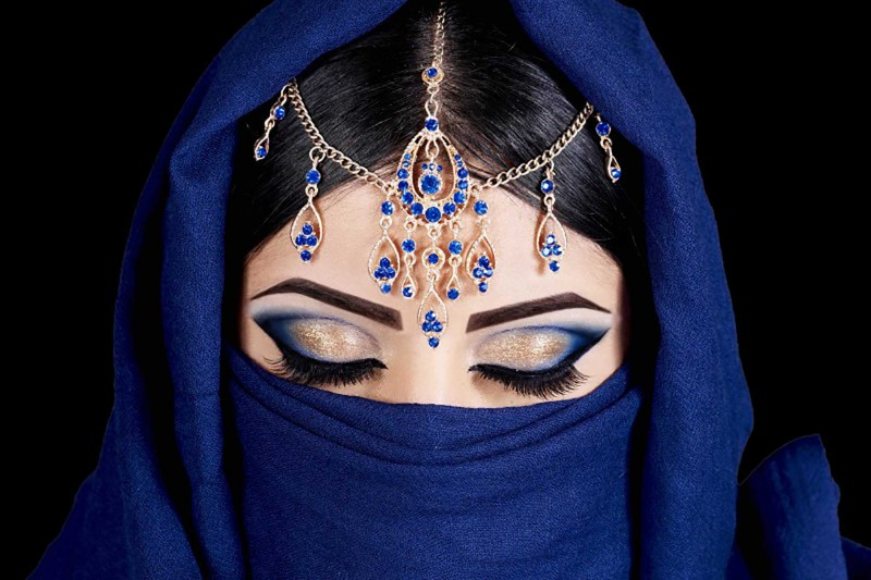 Maquillage tendance orientale.